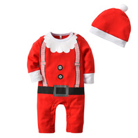 Christmas Gift 2019 Hot Baby Jumpsuit Santa Claus Clothes And Hat Kids Newborn Boys Girls Romper Children Costume