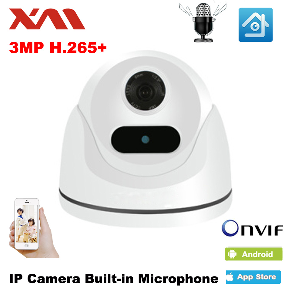 XM HD IP Camera 3.0MP Indoor Audio Dome Cam IR Lens 3.6mm IP CCTV Security Camera Network Onvif P2P Android iPhone XMEye View audio wireless explosion proof 720p 1 0mp dome ip camera support p2p onvif hpone view cctv security camera free shipping