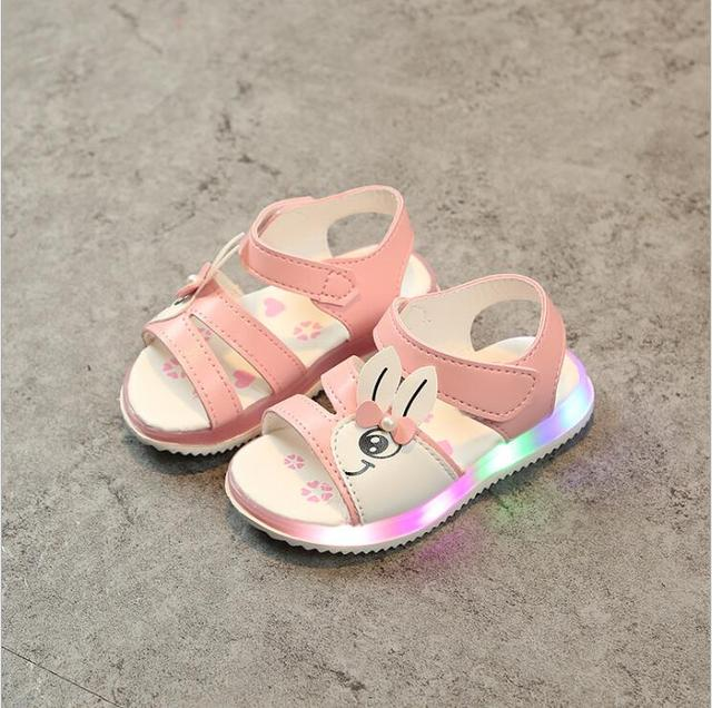1a7892b9e3773 Children shoes girls summer sandals lighted shoes baby girl s summer sandals  and first walkers sandals