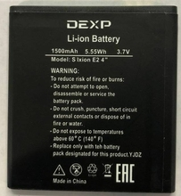 цена на New 3.7V 1500mAh S IXION ES2 4  Battery for DEXP S IXION ES2 4  Phone battery