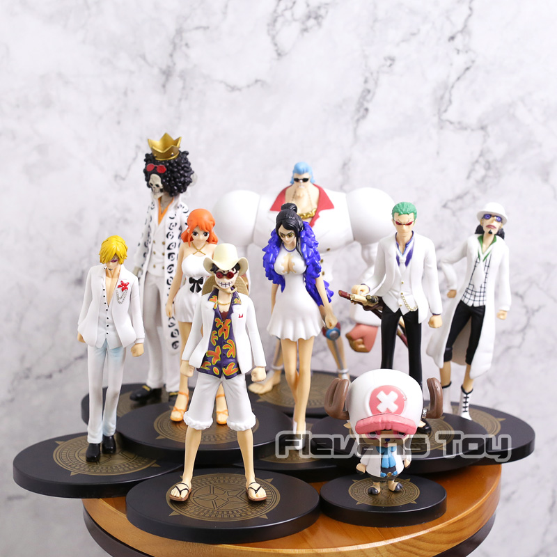 <font><b>One</b></font> <font><b>Piece</b></font> <font><b>Ichiban</b></font> <font><b>Kuji</b></font> Film Gold Luffy Zoro Nami Usopp Sanji Chopper Robin Franky Brook PVC Figure Toy image