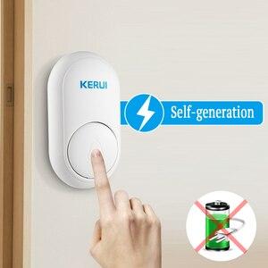 Image 2 - KERUI M518 ev karşılama zili kapı zili kablosuz akıllı halka kapı zili kendi kendine nesil hiçbir pil düğmesi 52 şarkılar isteğe bağlı