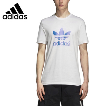 Original New Arrival  Adidas Originals Foil Print Tee Men's T-shirts short sleeve Sportswear