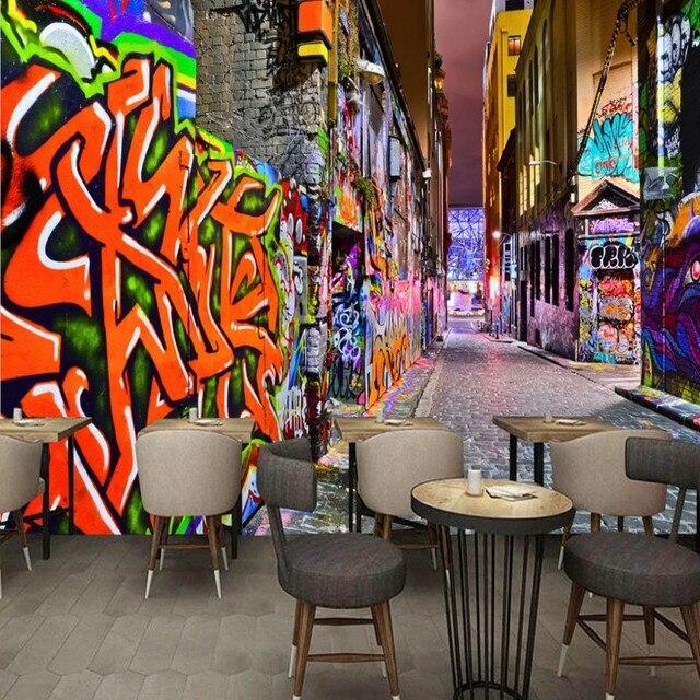 Photo Wallpaper Custom Hd Stereo Modern Art Street Art Graffiti Bar