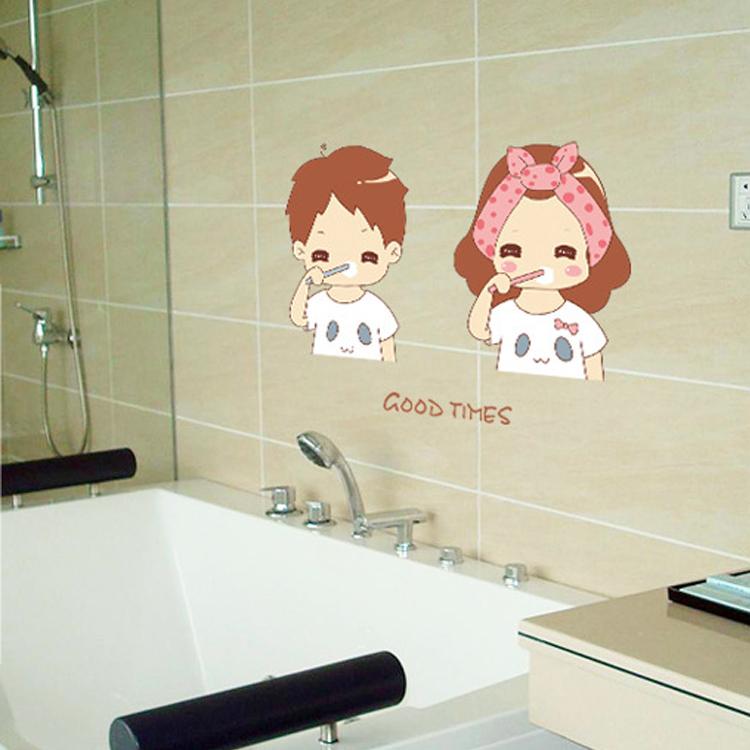 venta caliente barato amantes del cepillo de dientes de dibujos animados decoracin de la pared