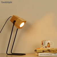 Nordic Design Desk Led Lamp Wood Lampshade Living Room Bedside Suspendsion Fixtures Lamparas Reading Table Lamp
