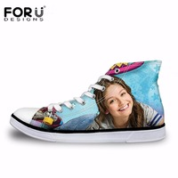 FORUDESIGNS Fashion Women Vulcanize Shoes Soy Luna Girl Printing High top Canvas Shoes Students Casual Lacing Sneakers Female