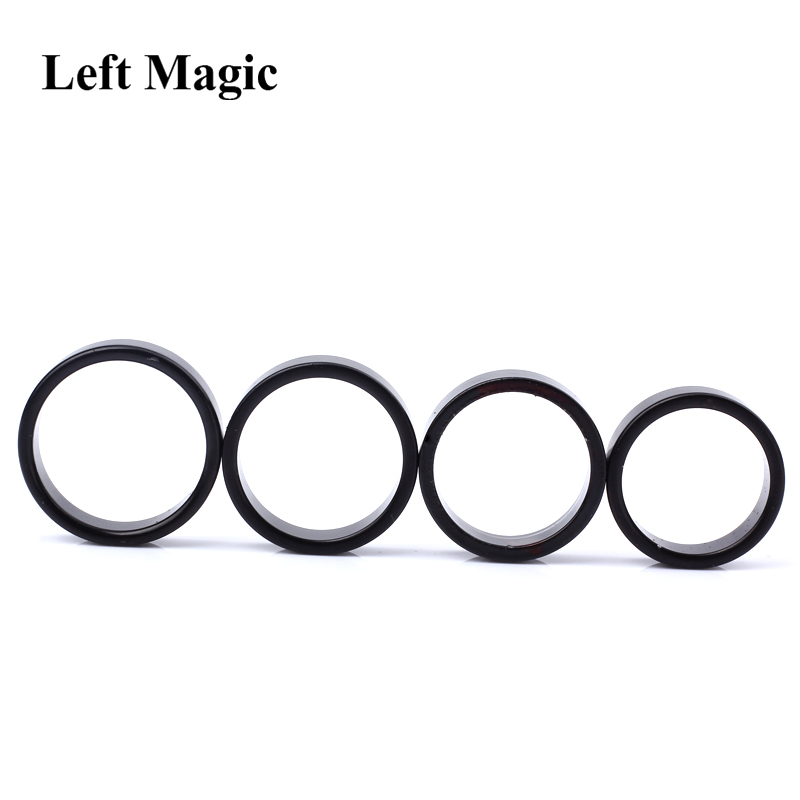 Image 4 - Black Strong Magnetic Magic Ring Magnet Coin Magic Tricks Finger Decoration Magician Ring 18/19/20/21MM Size Magic Props Tools-in Magic Tricks from Toys & Hobbies