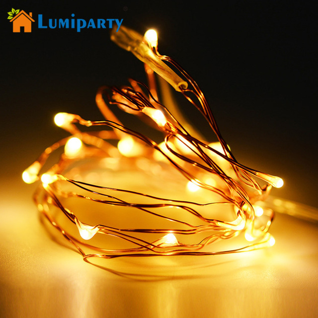 lumiparty 2pcs mini led copper wire fairy lights battery operated led christmas light 2m 20 leds