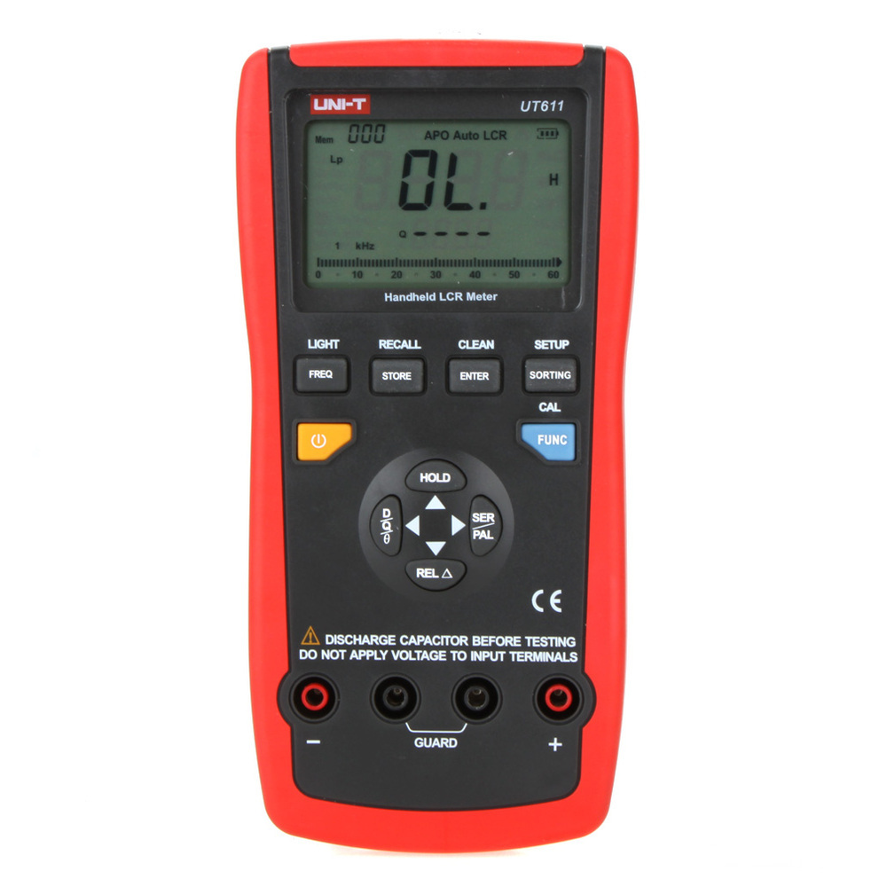 UNI-T UT611 LCR Meters Inductance Capacitance Resistance Frequency Tester with Series/Parallel Mode ut612 digital lcr meter with inductance capacitance resistance frequency tester