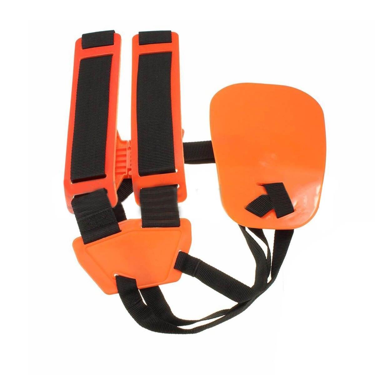 2017 Safe Double Shoulder Strap Harness Net Bag For Brush Cutter Grass Trimmer Mayitr Lawn Mower Parts Garden Tools Orange&Black  цены