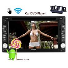 Android 5.1 Autoradio Camera Included Touch Screen AM/FM Radio GPS Navigation WiFi two 2 Din 6.2 Inch Car Stereo Quad Core CPU