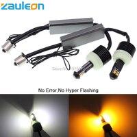 Zauleon 2 pz 1156 PY21W P21W Bianco/Giallo Dual color per la Parte Anteriore DRL/Disabilita Segnale Luminoso Canbus No errore Non Hyper Lampeggiante Lampadina