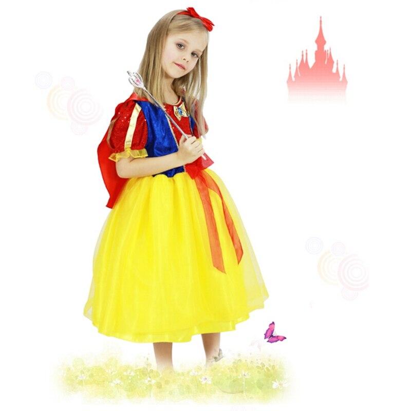 feaebd28b Blancanieves princesa Cosplay niños lindos ejecutante ropa niños de alta  calidad vestido