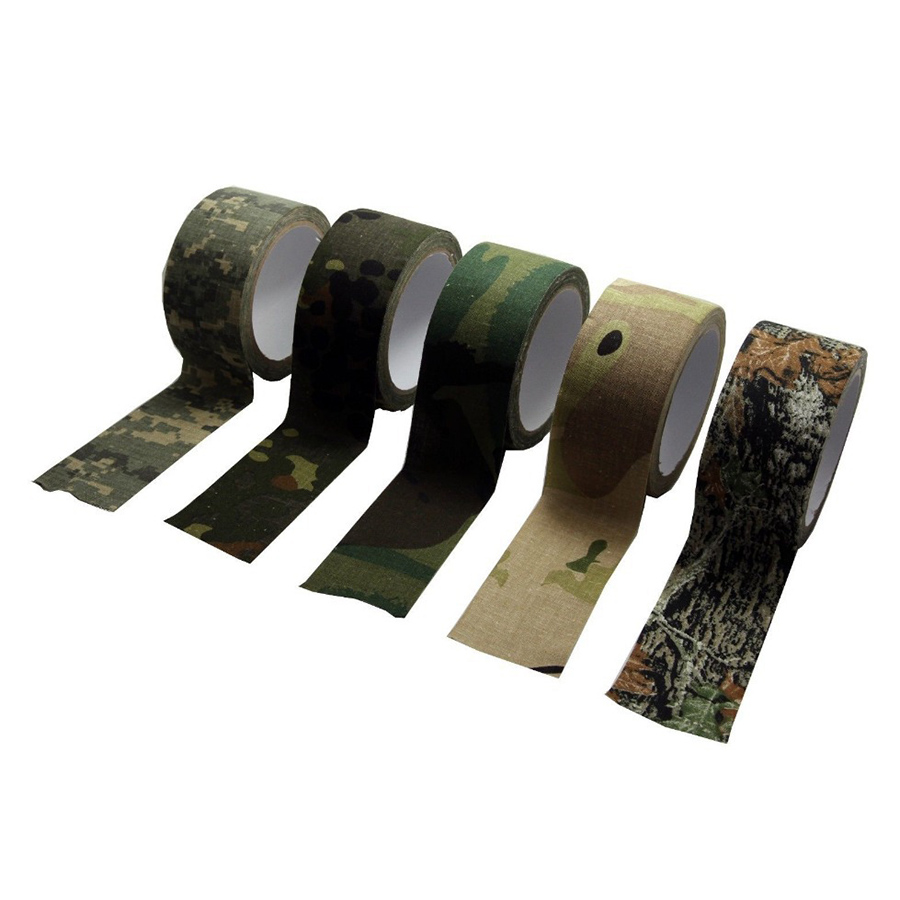 Camouflage Adhesive Tape Hunting Camo Form Camouflage Gun Gear Self Cling Stretch Wrap 50mm*10m Sport Tape 3colors ...