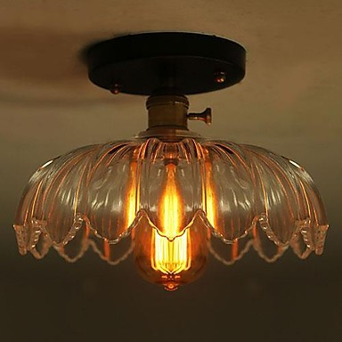 ФОТО Retro Loft Style Edison Vintage Industrial Lighting Ceiling Lamp For Living Room Light Fixture 60w