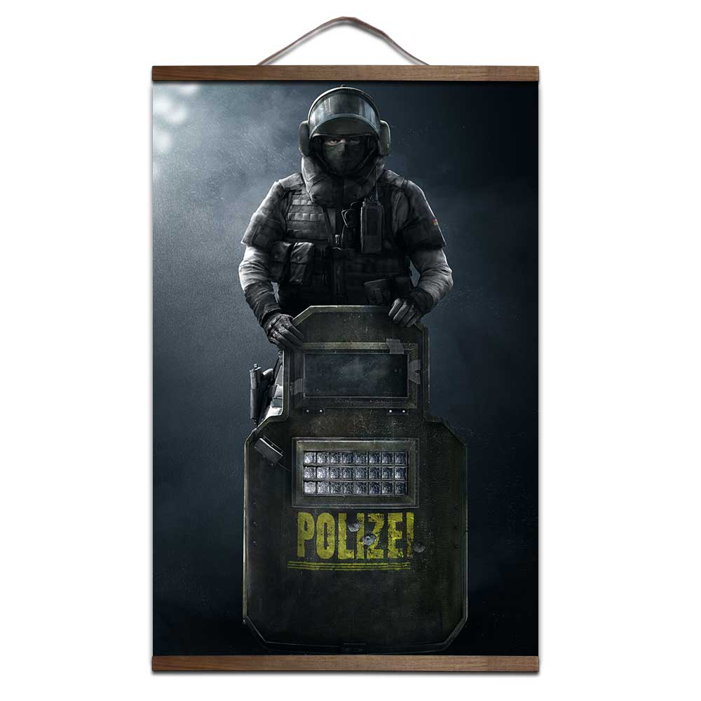 Rainbow Six Siege poster for HD canvas poster decoration painting with solid wood hangin ...