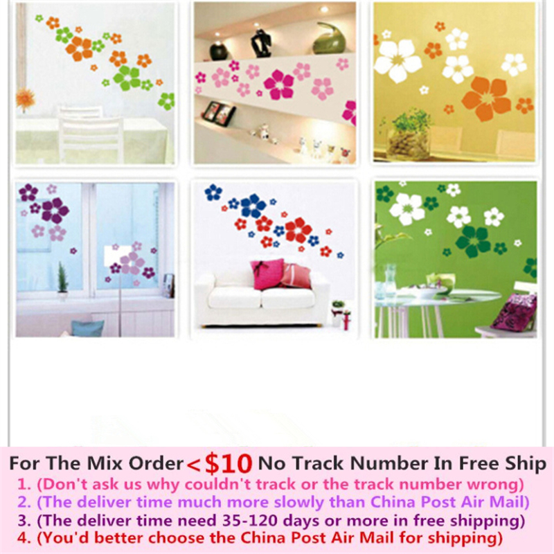 Aliexpress Com Buy New Design Creative Diy Wall Stickers: New Creative 23 Cute Flowers DIY Wall Stickers For Bedroom