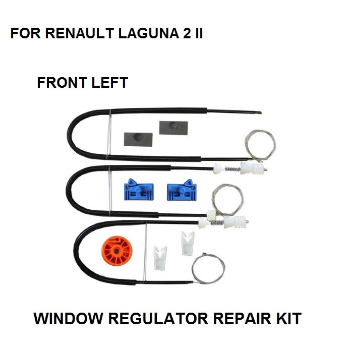 2001-2007 WINDOW REGULATOR REPAIR KIT ROLLER FOR RENAULT LAGUNA II 2 WINDOW REGULATOR REPAIR KIT FORNT-LEFT car window regulator repair kit for renault megane ii 2 front right 2002 2009 new