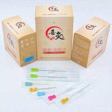 Yeni EACU tek kullanımlık steril akupunktur iğneleri plastik saplı bıçak düz kenar bıçak İğne acupotomy iğne 50 adet