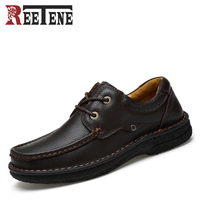 Autumn Winter Genuine Leather Men Casual Shoes Cotton Non Slip Soft Bottom Flats Breathable Warm Men