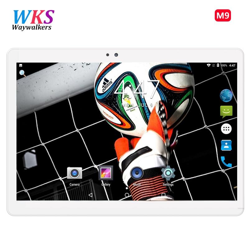 Происхождения 10,1 дюймов планшетный ПК Octa Core 1920*1200 ips HD 4 ГБ Оперативная память 32 ГБ 64 ГБ Встроенная память Dual SIM карты камер gps 3G WCDMA Android 7 Планше...