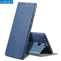 X Level Book Leather Flip Cases For Huawei P9 P9 Lite P9 Plus Business Ultra Thin