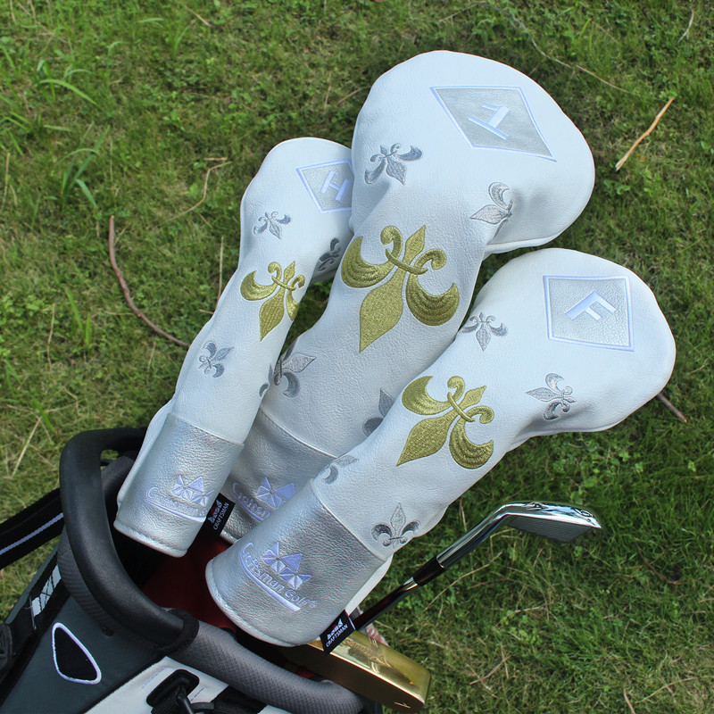 New Arrival Free Shipping Craftsman Golden&Silver Embroidery PU Leather Golf  Club Headcovers Wood Head Covers for #1# F#H-in Golf Clubs from Sports ...
