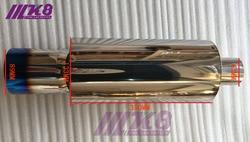 63mm wlot/89mm wylot uniwersalny 304 ze stali nierdzewnej spalony niebieski tłumik rury wydechowej tłumik samochodowy (średnica: 133 MM)