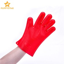 Pet Glove Grooming Silicone Cat Gloves Mitten For Cats Bath Gloves For Dogs Pet Hair