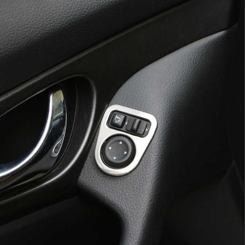 Автомобиль ABS Хром Интерьер заднего вида Зеркало регулировки крышки накладка наклейка для Nissan Qashqai J11 2014-2018