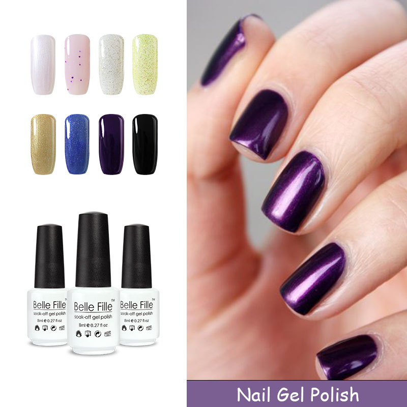 buy belle fille vernis semi permanent manicure tool fashion color uv nail gel. Black Bedroom Furniture Sets. Home Design Ideas