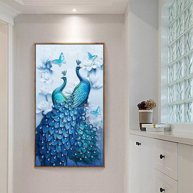 5d diy diamond painting full round wedding decoration home wall sticker paint with diamond embroidery special