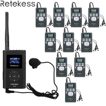 1 fm-передатчик FT11 + 10 FM радиоприемник PR13 Беспроводной гид Системы для направления встречи синхронного перевода