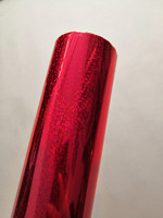 Holographic foil red color crystal pattern 3007 hot stamping on paper or plastic 64cm x 120m
