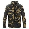Nuevo 2016 de invierno de moda de estilo militar de camuflaje thincken parkas chaqueta de algodón acolchado ropa de hombre chaqueta hombre/MF16