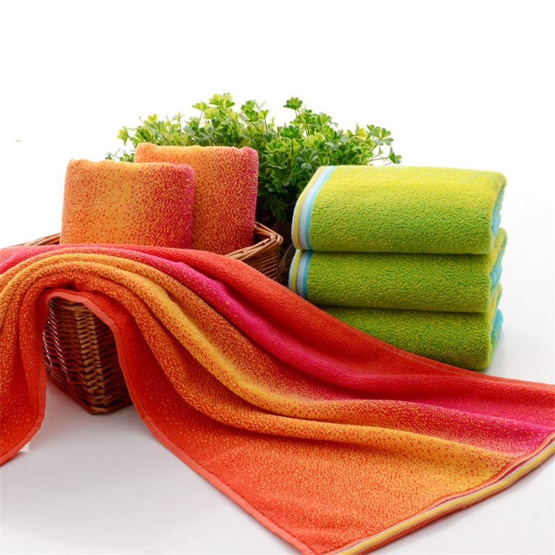 Sports Towel Absorption: ZZBESTBC The New Color Striped Towel All Cotton Absorption