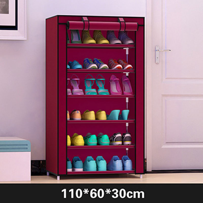 Actionclub Simple  Practical Small  Shoes  Rack Multifunction Dustproof Shoes Organizer Shelf In The Hallway Home Furniture-in Shoe Cabinets from Furniture