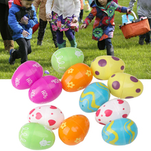 12pcs/pack DIY Funny Detachable Plastic Non-toxic Empty Decorative Colorful Party Favor Lottery Handmade Kid Toy Easter Egg
