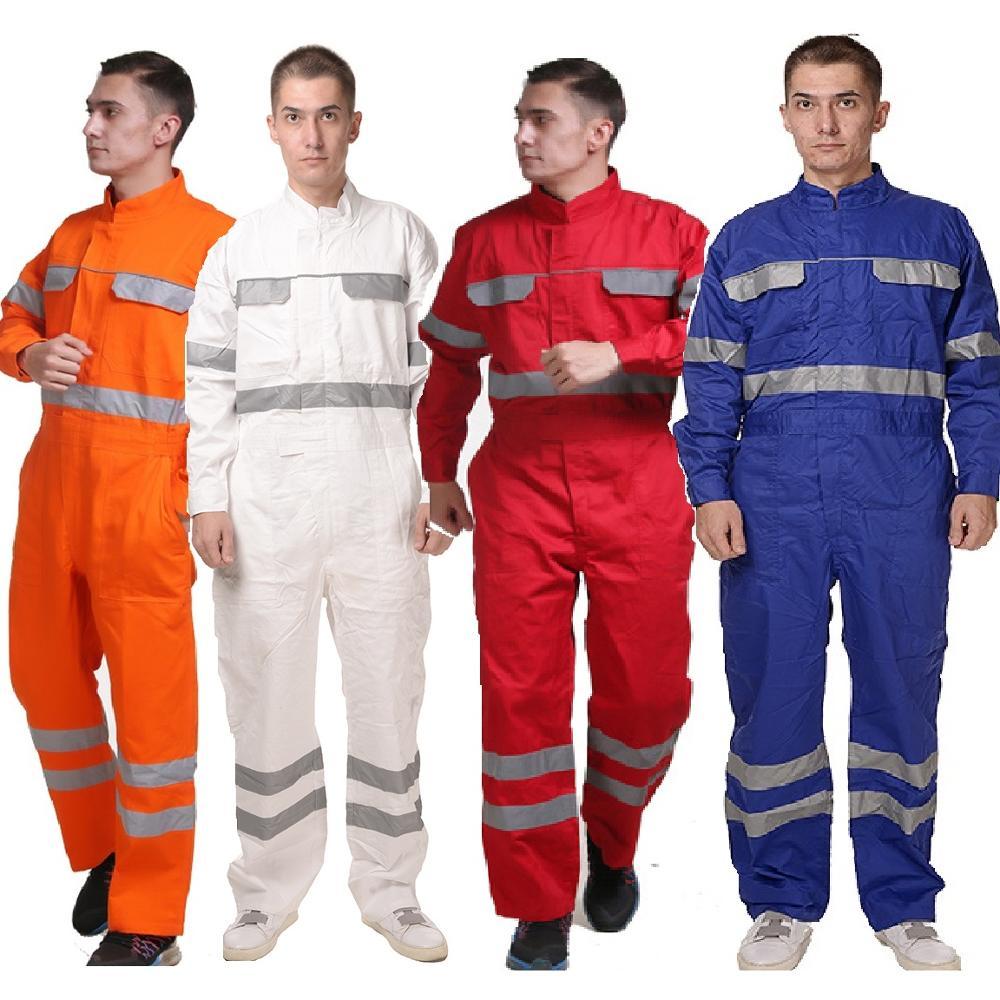 Dustproof-Machine Overalls Reflective Workwear Cotton Rescue Repairman Anti-Static Emergency