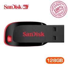 Оригинальный SanDisk usb флэш-накопитель Cruzer blade U диска CZ50 128 ГБ ручка накопители USB 2.0 Memory Stick SDCZ50