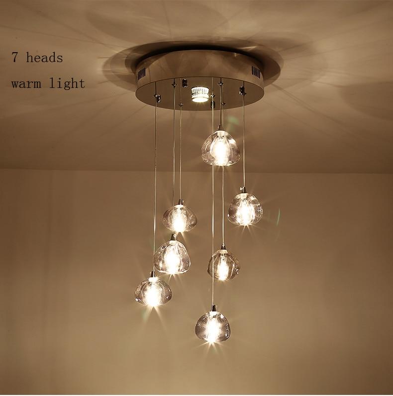 Moderm Vidro Indoor Iluminação Restaurante