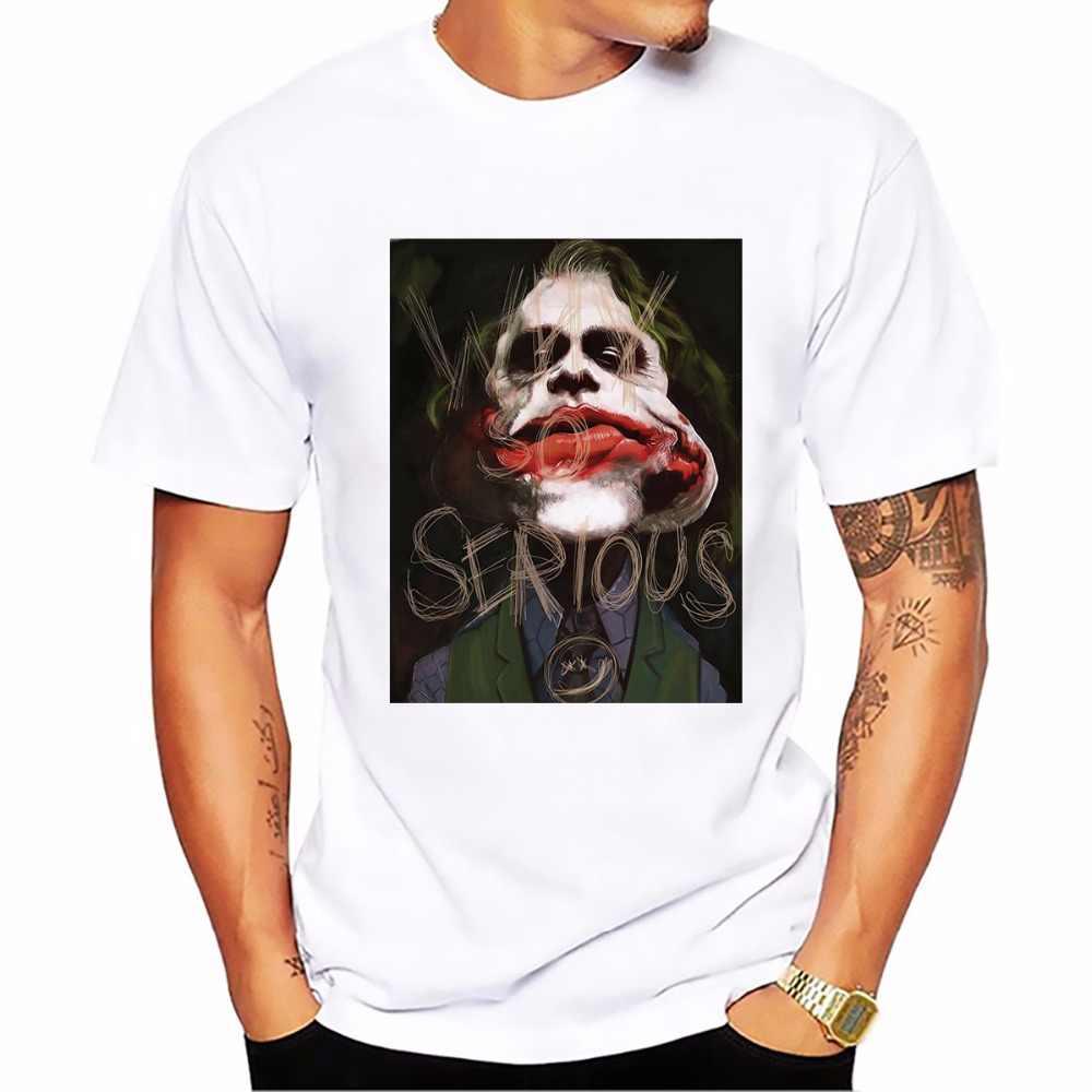 Salute Хит Леджер самая Классическая Джокер Футболка мужская белая Повседневная футболка из дышащей ткани homme dark VIOLATION Красивые футболки
