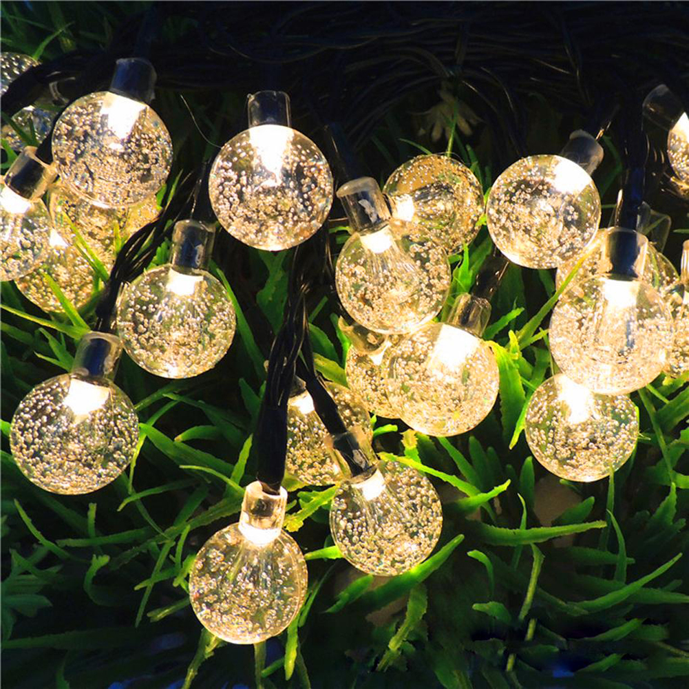 TSLEEN Waterproof Garland Crystal Ball Solar String Lights Christmas Xmas Dancing New Year Lamp Outdoor Party Garden DecorationTSLEEN Waterproof Garland Crystal Ball Solar String Lights Christmas Xmas Dancing New Year Lamp Outdoor Party Garden Decoration