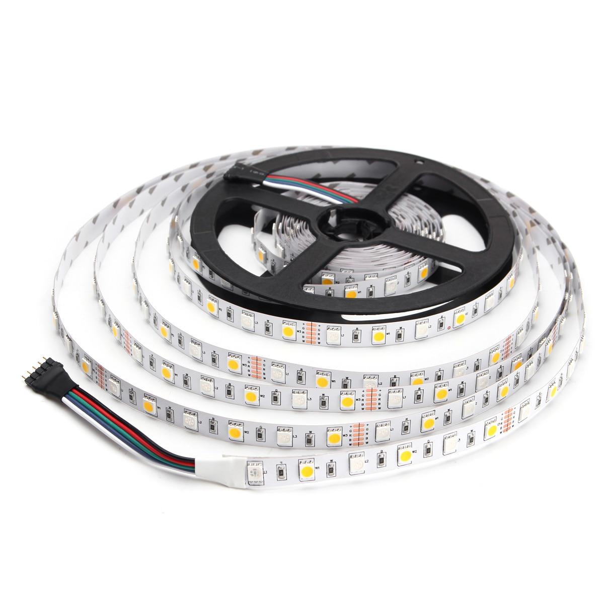 все цены на Smuxi 5M LED Strip 5050 RGBW DC 12V Flexible LED Light RGB + White / RGB + Warm White 60 LED/m Light No Waterproof онлайн