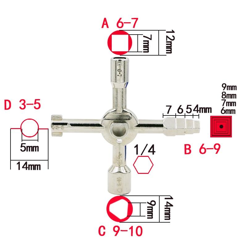 Новый Тип Multi-помазание ключи Крест ключ с 1 цепи 10 профили Германии качество ЧПУ ключ электрическое поле ключ поезд дверь, ключ как показал