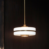 Modern Acrylic LED Pendant Lights Nordic Gold Led Hanging Lamp for Living Room Kitchen Home Fixtures Suspension Luminaire Decor