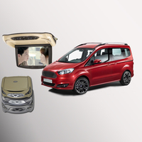 BigBigRoad For Ford Tourneo Courier Car Roof Mounted in car Digital Screen Support HDMI USB FM TV Game IR Remote Flip Down DVD