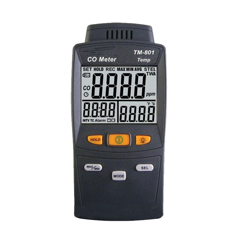 New Digital CO Carbon Monoxide Detector TM-801 High Quality Gas Analyzer Tester CO Levels Test 0-1000ppm Measuring Instrument