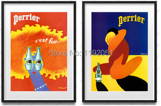 vintage style pictures letters canvas paintings posters <font><b>perrier</b></font> yellow <font><b>lovers</b></font> hug and imaginary eyes